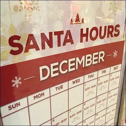 Santa December Hours Limited