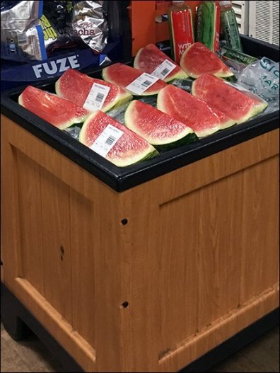 Sickles Iced Watermelon Endcap Bin 3