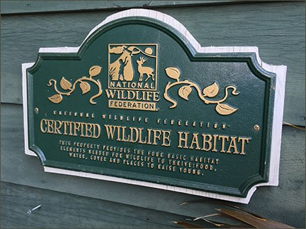 Sickles Market Certified Wildlife Habitat Credentials