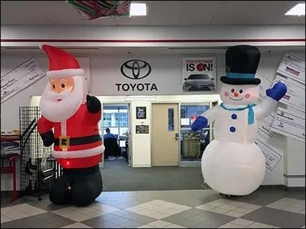 Toyotathon Christmas Sale Inflatables 1