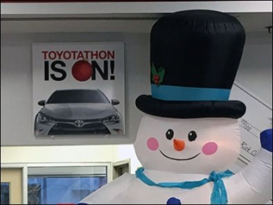 Toyotathon Christmas Sale Inflatables 3