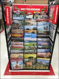 2017 Calendar Display By Tractor Supply