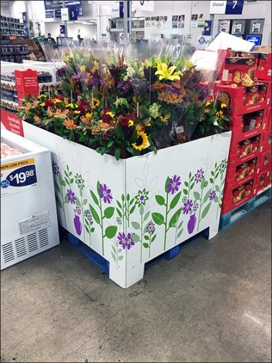Warehouse Club Pallet-Load Floral Merchandising