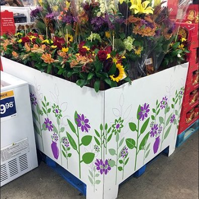 Warehouse Club Floral Pallet Display 2