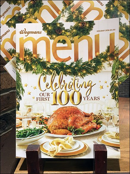 100th Anniversary Menu Branding by Wegmans