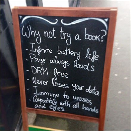 Why Not Try a Book Chalkboard Pitch