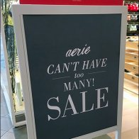 Aerie Can't Have Too Many Sale Easel 2