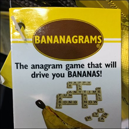 Bananagrams and Pairs-in-Pears By Display Hook