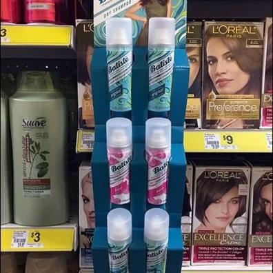 Batiste Dry Shampoo Corrugated Strip Merchandisers S-Hook 1