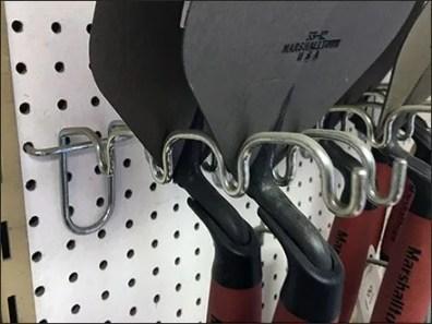 Trowel Undulating Arm Display Hook
