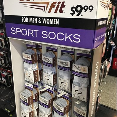 Copper Fit Unisex Sport Socks Standalone