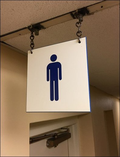 Ceiling Hung Restroom Sign Mens 3