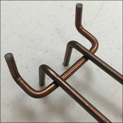 Copper Loop Hook For Slatwall and Pegboard