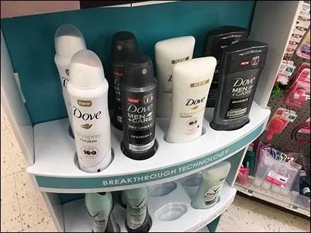 Deodorant Benefit Corrugated Merchandiser