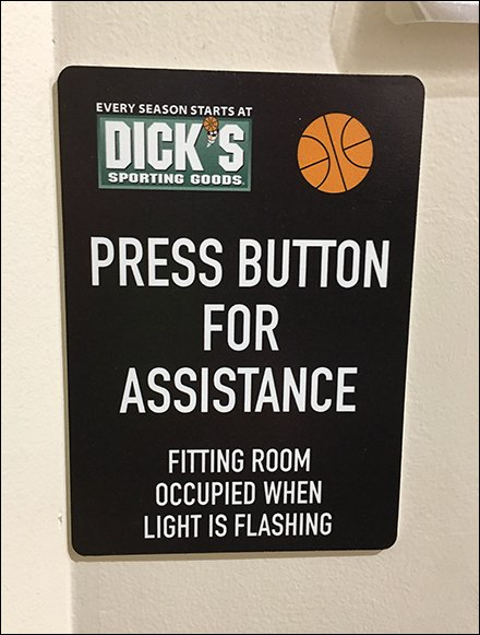 Press For Assistance Call Button