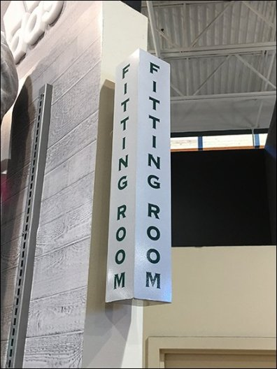 Dicks Sporting Goods Fitting Room Sign