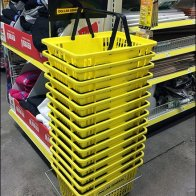 Dollar General Yellow Shopping Carry Branding