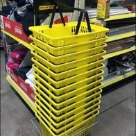 Dollar General Yellow Shopping Carry Branding