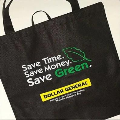 Dollar General Reusable Shopping Bag Closeup Feature