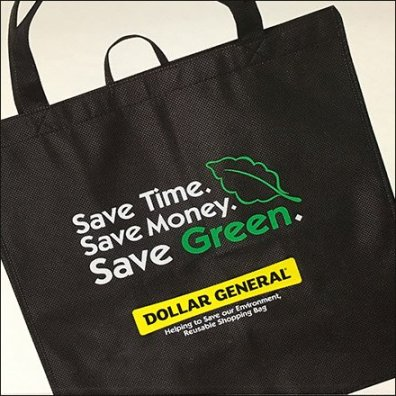 Dollar General Reusable Shopping Bag Closeup Feature
