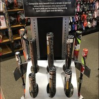 Easton Baseball Bat Triangular Display Home Run
