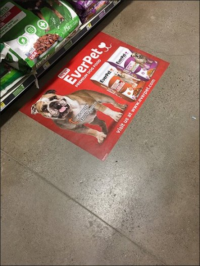 EverPet Dog Food Floor Graphic 2