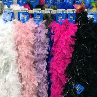 Feather Boa Merchandised By Bar Extender