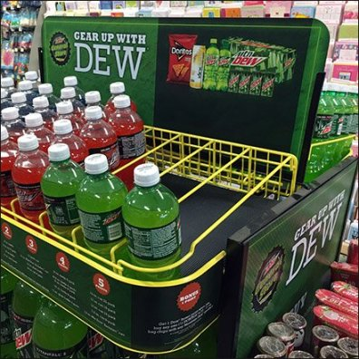Gear Up With Mtn Dew Gravity Feed Island