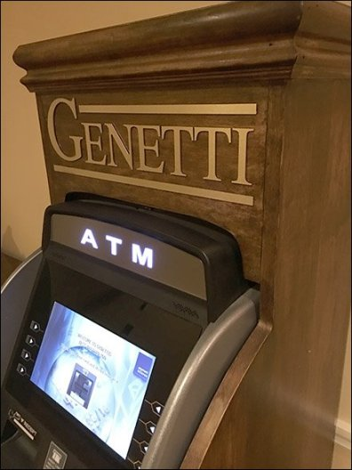 Genetti ATM In Fine Crafted Wood 3