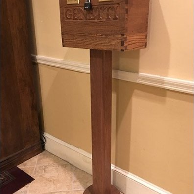 Ballot Box - Hand-Carved Key Return and Suggestion Box