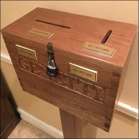 Hand-Carved Key Return and Suggestion Box