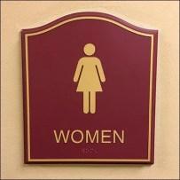 Women's Humpback Hotel Restroom Sign Plaques