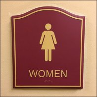 Women's Humpback Hotel Restroom Sign Plaques