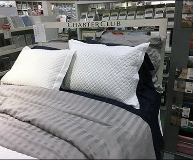 Inviting Winking Pillow Prop In Bed At Macy S Fixtures