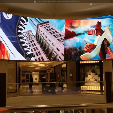 Mall at Short Hills Concourse Video Billboard 06