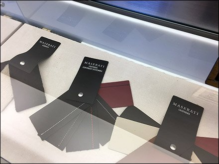 Maserati Leather Upholstery Sample Swatches
