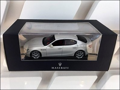 Maserati Miniature Models On Custom Slatwall