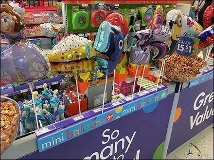 Party City Mini Balloon Parade Cashwrap Run-Up