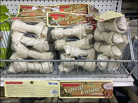 Endless-Basket Shelf-Mount Pet Merchandising