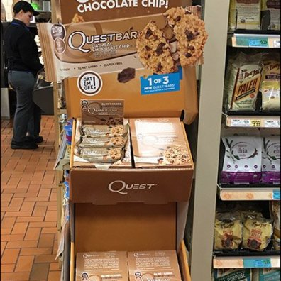 Quest Oatmeal Chocolate Chip Corrugated POP Display 4