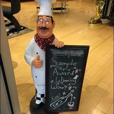 Sample Award Winning Wine By Chalkboard