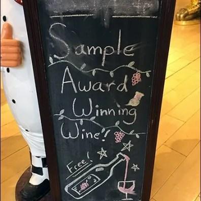 Sample Award Winning Wine Free Easel 2