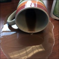 Shattered Retail Nerves Result In Coffee Spill