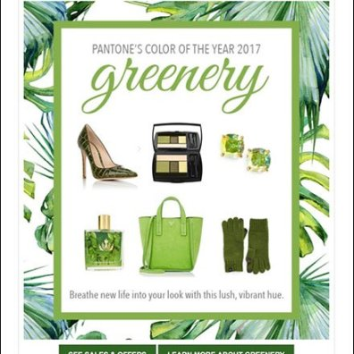 Short Hills Mall Presents Pantone Greenery
