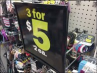 Square Sign Standoff for Pegboard