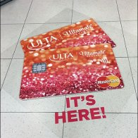 It's Here! Ultamate Credit Card Floor Graphic