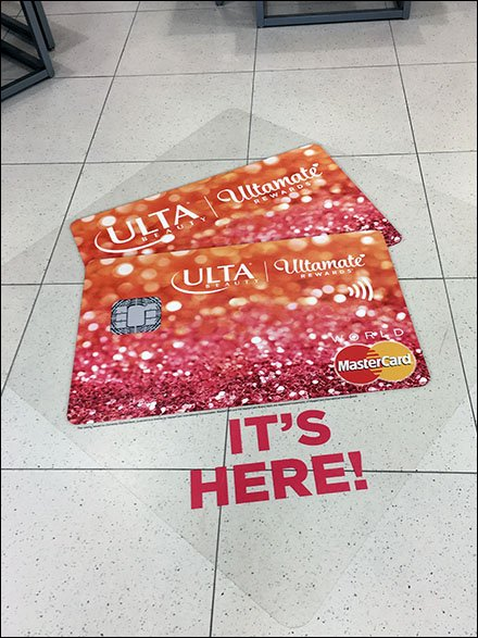 It's Here! Ultamate Credit Card Floor Graphic