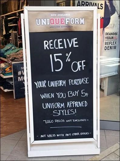 Uniqueform® Rolls Out Unique Entry Easel
