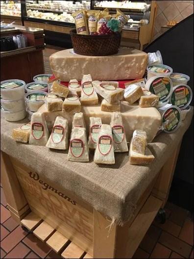 Wegmans Cheese Island Display 2