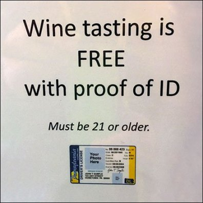 Wine Tasting Free With Photo Proof of ID